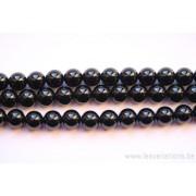 Perle en pierre naturelle - onyx - 8 mm - vendu par 19 cm