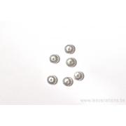 Perle en forme de roue brossé 6 mm - en argent 925