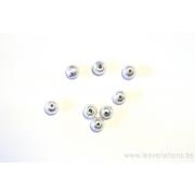 Perle en argent 925 brossé de 4,5 mm