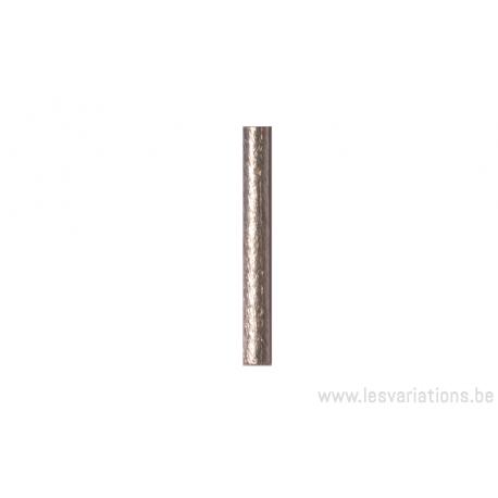 Tube 3 x 24 mm - en argent 925 brossé