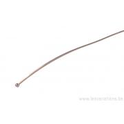 Tiges / clous 10 cm tête ronde 2.3 mm - en argent 925