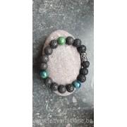 Bracelet en perles de lave pour homme