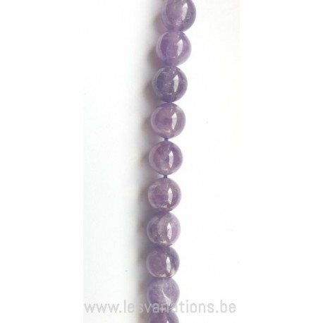 Perle en pierre naturelle semi -précieuse améthyste
