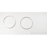 Anneau fermé fil 0,8 diamètre extérieur 20 mm - en argent 925