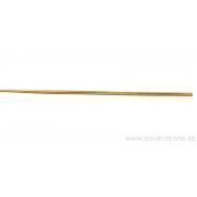 Chaîne finie avec fermoir 40 cm - collier serpent - en argent 925 doré