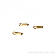 Embouts tube 2,1 x 6 mm - en argent 925 plaqué or
