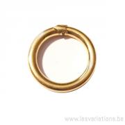 Fermoirs anneaux ouverture clip,- en argent 925 plaqué or