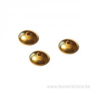Coupelles lisse 5 mm - en argent 925 doré