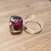 Bague en perle de verre d'artisan - collection Karin Fontaine