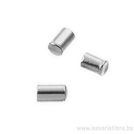 Embouts de fin de 1,5 mm à coller - en argent 925 - par 2