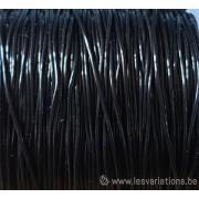 élastique noir 1 mm