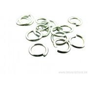 Anneaux rond 7 mm - en métal argenté x20