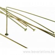 Tiges / clous 70 mm tête plate 2 mm - cuivré x2