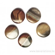 Perle en pierre naturelle - jaspe polychrome