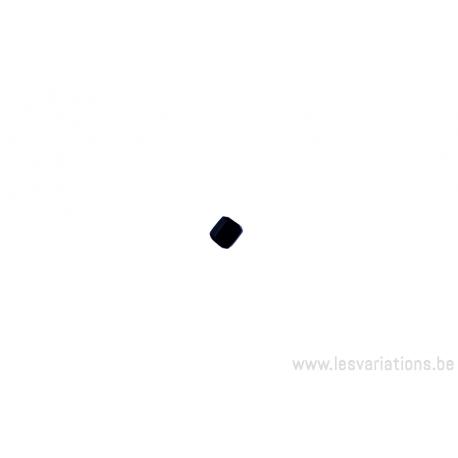 Perle en verre carrée - noir