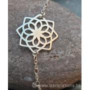 Kit Fin bracelet en argent 925 médaillon fleur stylisée