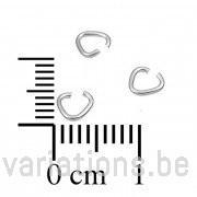 Bélières anneaux 38 mm fil 8mm - en argent 925