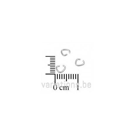 Bélières anneaux 3,8 mm fil 8mm - en argent 925