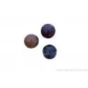 Perle en pierre naturelle - en jaspe - ronde - brun varié