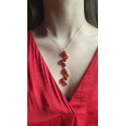 Pendentif Collection les cercles - rouge et orange