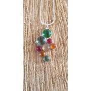 Pendentif Collection les cercles - vert / orange /rouge