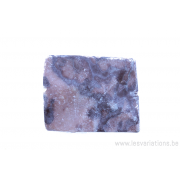 Perle en pierre naturelle - rectangulaire - marbre - rose
