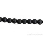 Perle en pierre naturelle - onyx mat- 6mm