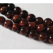 Perle en pierre naturelle - oeil de Tigre - vendu par 19 cm
