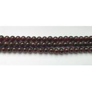 Perle en pierre naturelle - grenat - 6 mm