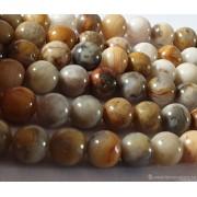 Perle en pierre naturelle - Jade de Birmanie - 10 mm - par fil