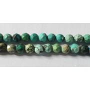 Perle en pierre naturelle - Turquoise - 3 mm - par fil