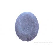 Perle en pierre naturelle - ovale- marbre - rose