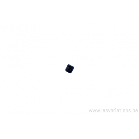 Perle en verre rectangulaire - angle arrondi - noir