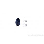 Perle en verre ovale - noir x 4
