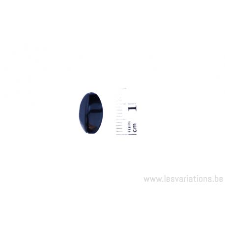 Perle en verre ovale - noir