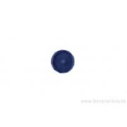 Perle en verre ronde en forme de roue - brun clair transparent x 4