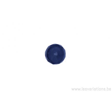 Perle en verre ronde en forme de roue - brun clair transparent