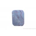 Perle en pierre naturelle - rectangulaire tordue - marbre - rose
