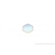 Perle ovale à facette - bleu clair x 10