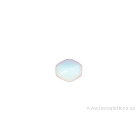 Perle ovale à facette - bleu clair