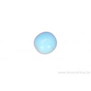 Perle en verre ronde - bleu clair x10