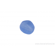 Perle de verre ronde à facette - bleu clair transparent x 10