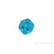 perle en verre carrée - bleu clair transparent