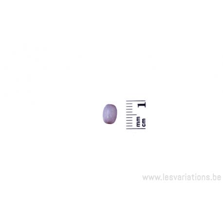 Perle en verre ovale - rose