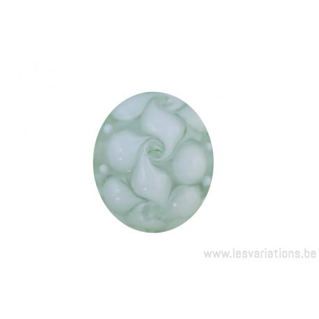Perle en verre d 39 artisan ronde transparent blanc for Photophore en verre transparent