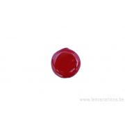 Perle en céramique - ronde en forme de roue - corail
