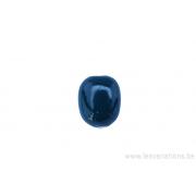 Perle en céramique -rectangulaire - côté arrondi - vert foncé uni