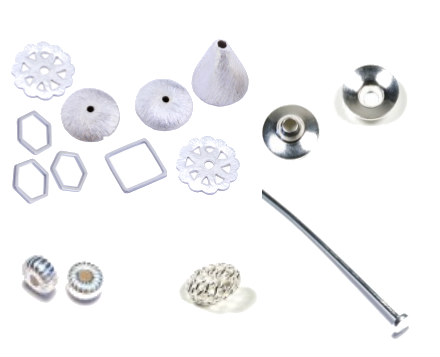 intermédiaire ( coupoles, perles rondes, carrées, à facettes, tubes