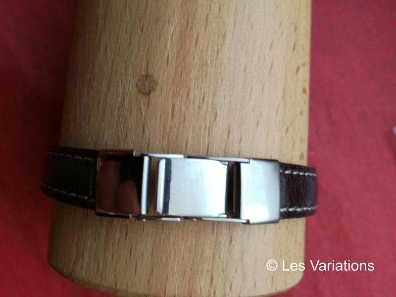 fermoir acier inoxydable pour cuir 10 mm - Les Variations