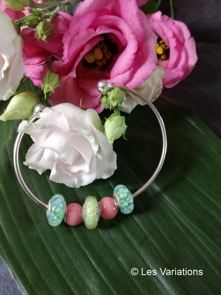 Bracelet interchangeable - perle de verre - Les Variations